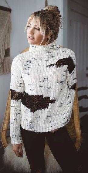 Sweater Season | knit sweater + black skinnies