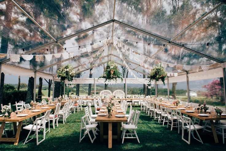 Clear Marquee Reception   Byron Bay Wedding   Figtree Wedding Pictures