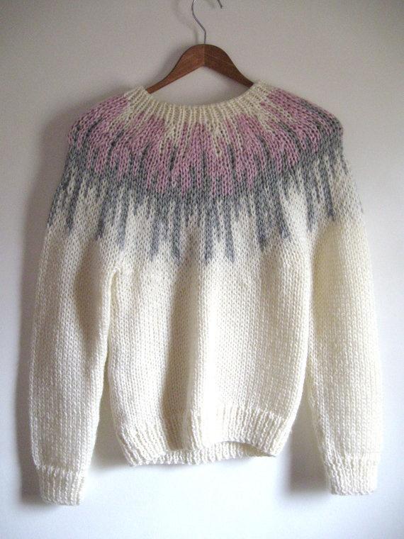 Vintage 1960's Robert Scott Ltd hand knit sweater by HopHopVintage, $35.00