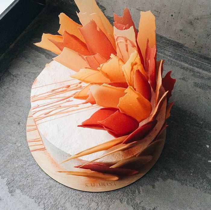 Best Brushstroke Cakes Images On Pinterest Desserts Cake - Russian bakery uses brushstroke decorations to create the most amazing cakes