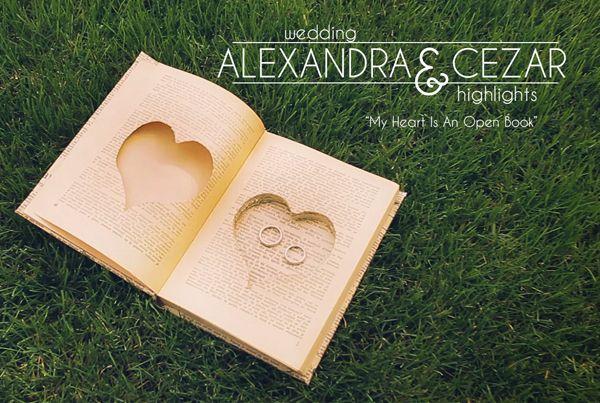 """Alexandra & Cezar – """"My Heart Is An Open Book"""" – wedding story"""