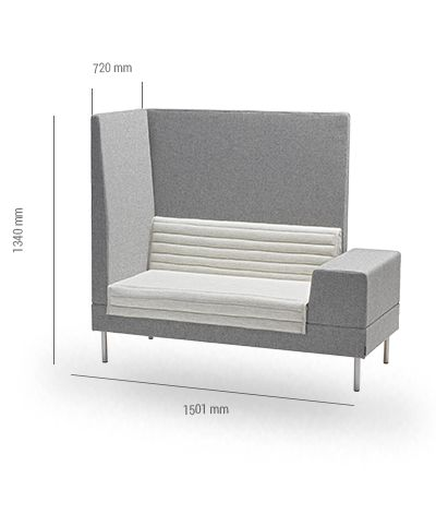 Smallroom Sofa 1500 by OFFECCT Evaluated by Acousticfacts.com #sofa #absorbent #acousticfacts #soundenvironment #office