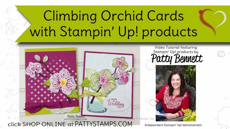 How to stamp Climbing Orchid cards with Stampin' Up! products