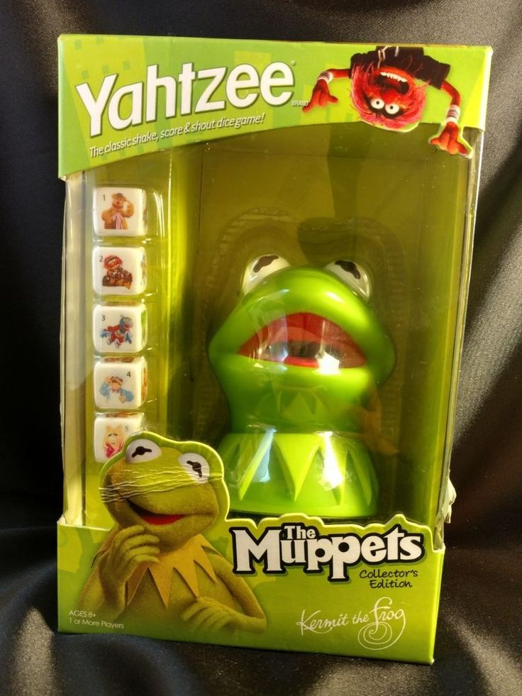 NEW 2010 THE MUPPETS COLLECTOR'S EDITION YAHTZEE GAME KERMIT THE FROG HASBRO | Toys & Hobbies, Games, Board & Traditional Games | eBay!