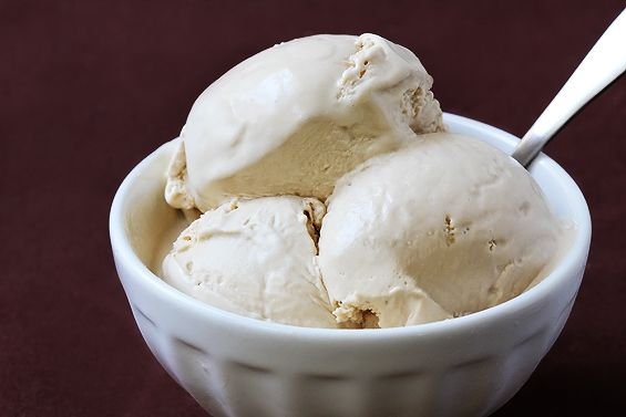 Earl Grey Ice Cream.  This was way too yummy. I didn't steep the tea bags for as long as suggested. I used 6 bags for about 7 minutes because I didn't want it to get bitter and it turned out creamy perfection.