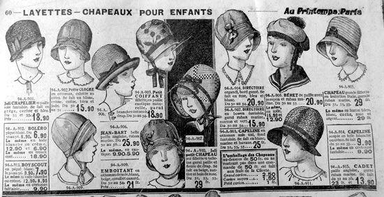 Chapeaux pour enfants