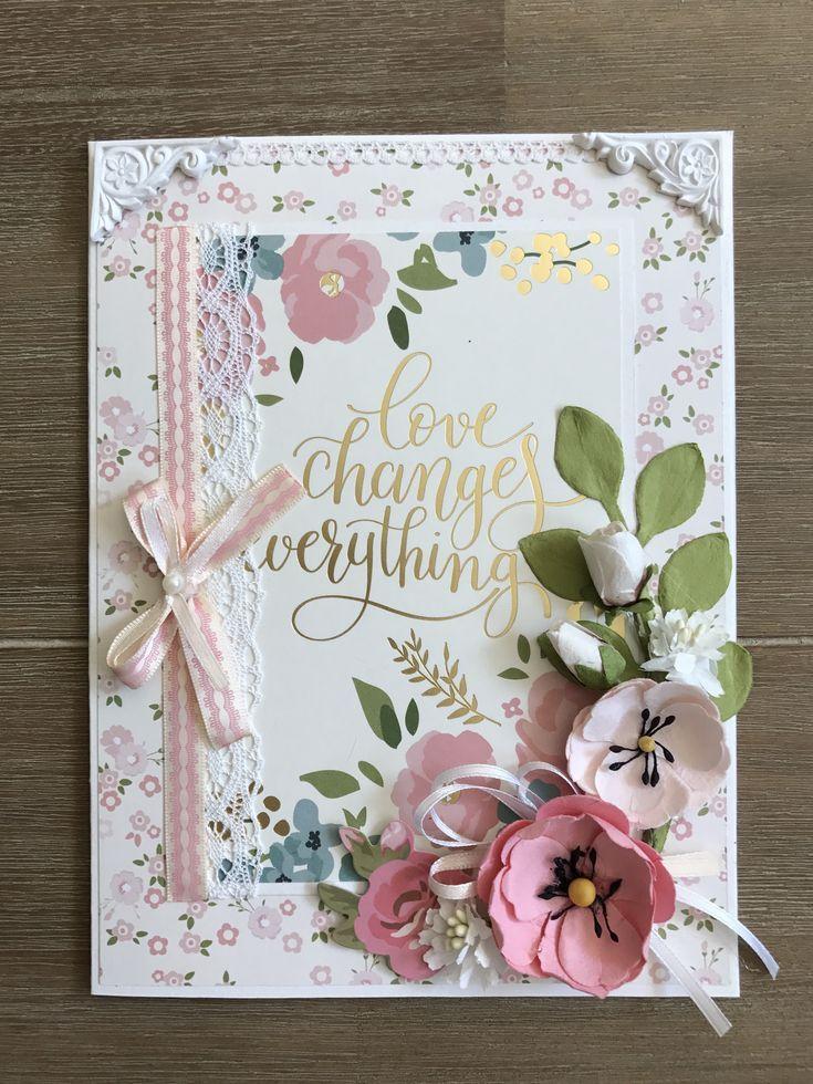 Handmade wedding card, 2 year anniversary gifts for boyfriend, Romantic birthday cards, Shabb…