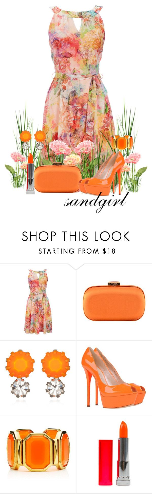 """""""Freshness of Spring"""" by sandgirl-435 ❤ liked on Polyvore featuring Wallis, Lancel, Tom Binns, Casadei, Juicy Couture and Maybelline"""