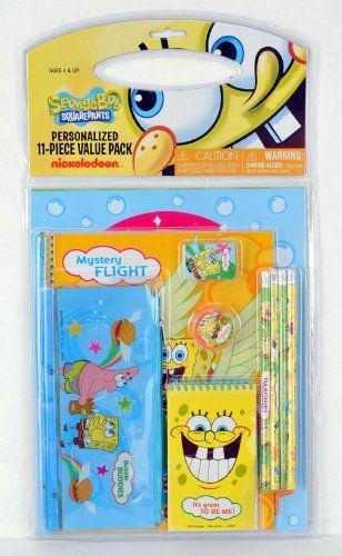 SpongeBob 11 Pieces Stationery Set