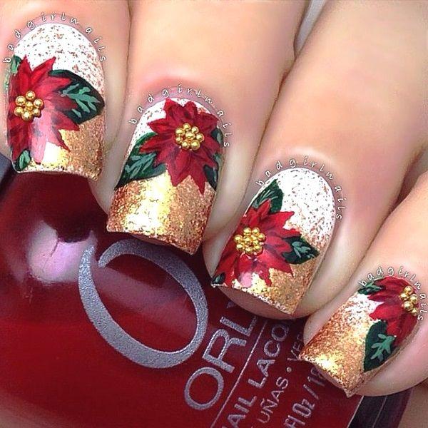 Mistletoe Christmas Nail Art Designs