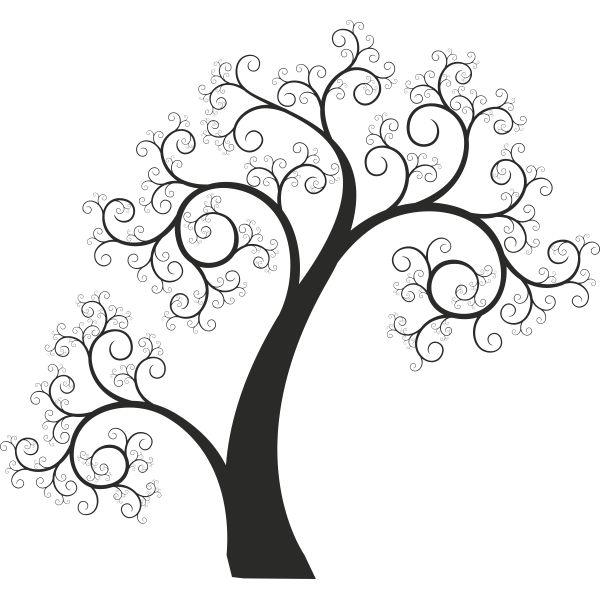 Vinilo decorativo arbol entrelazado sin hojas vinilos - Papel decorativo infantil ...