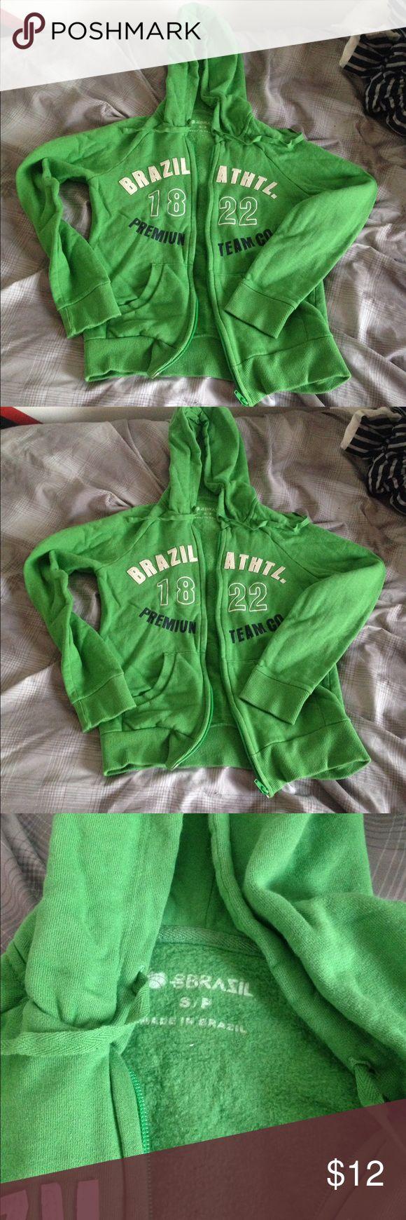 Brazil Zip-up Hoodie Brazil Women's Zip-up Hoodie. Size is small. Tops Sweatshirts & Hoodies