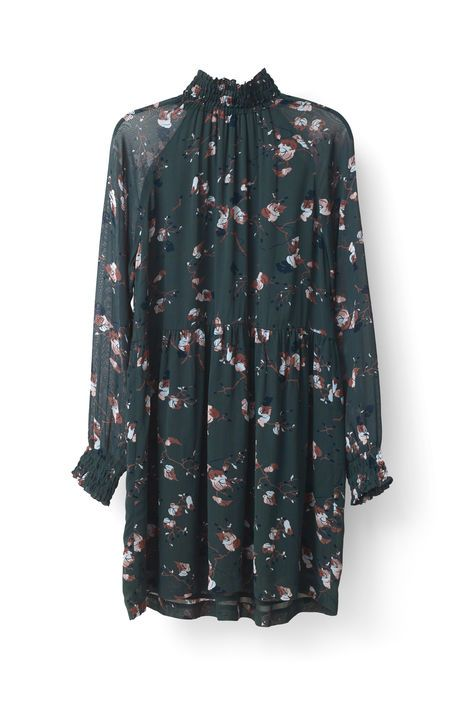 New Arrivals   Marietta Georgette Dress, Pine Grove Leaves