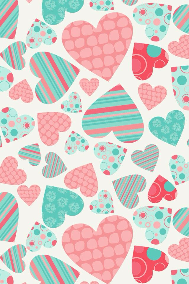 A Blue And Pink Heart Wallpaper From The App Cocoppa Download It Its Super Fun