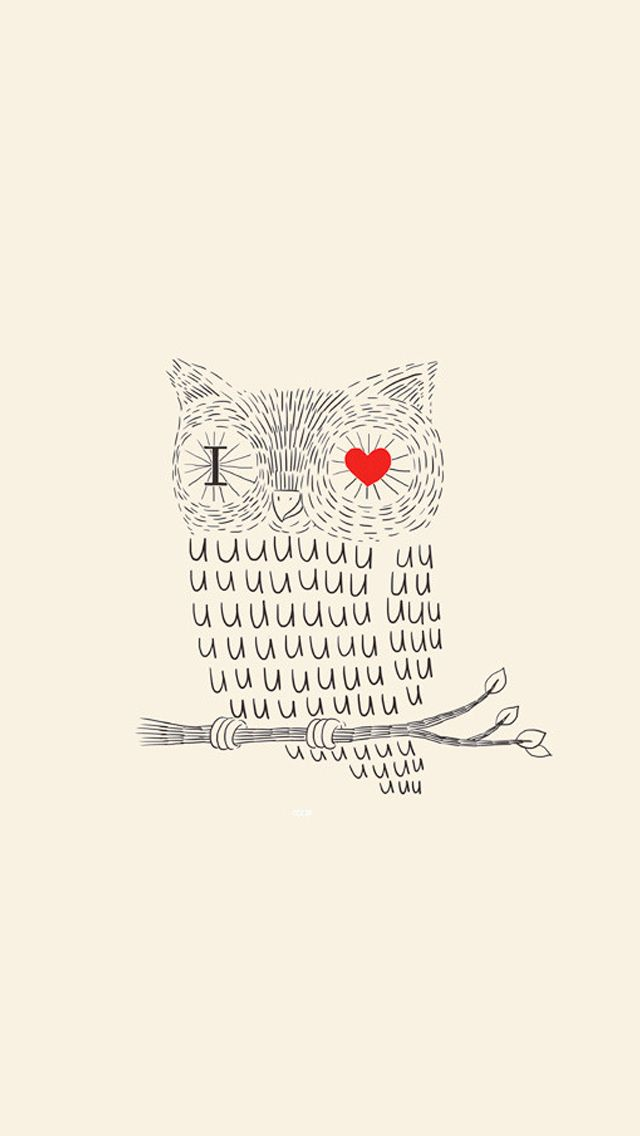I love you - owl typography #iPhone 5 #wallpaper