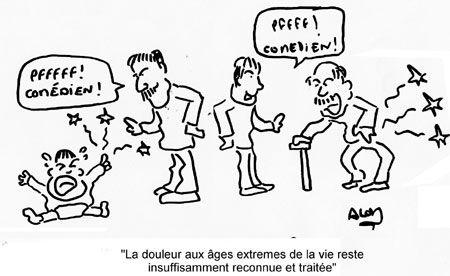 Douleur evaluation de la douleur humour illustration for Aide personnes agees maison retraite