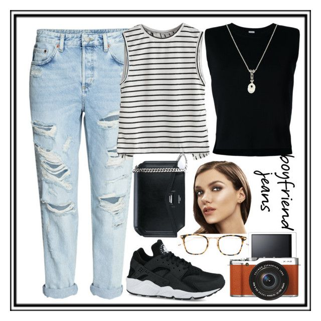 """""""Untitled #57"""" by mileyharbee on Polyvore featuring H&M, NIKE, Fujifilm, Rito, Givenchy, Thom Browne and TARA Pearls"""