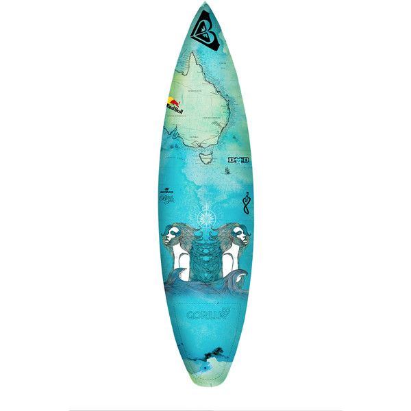 Surf Atlas Surfboard Design - www.adriannedesign.com.au ❤ liked on Polyvore featuring surfing, accessories, surfboard, beach, boards and filler