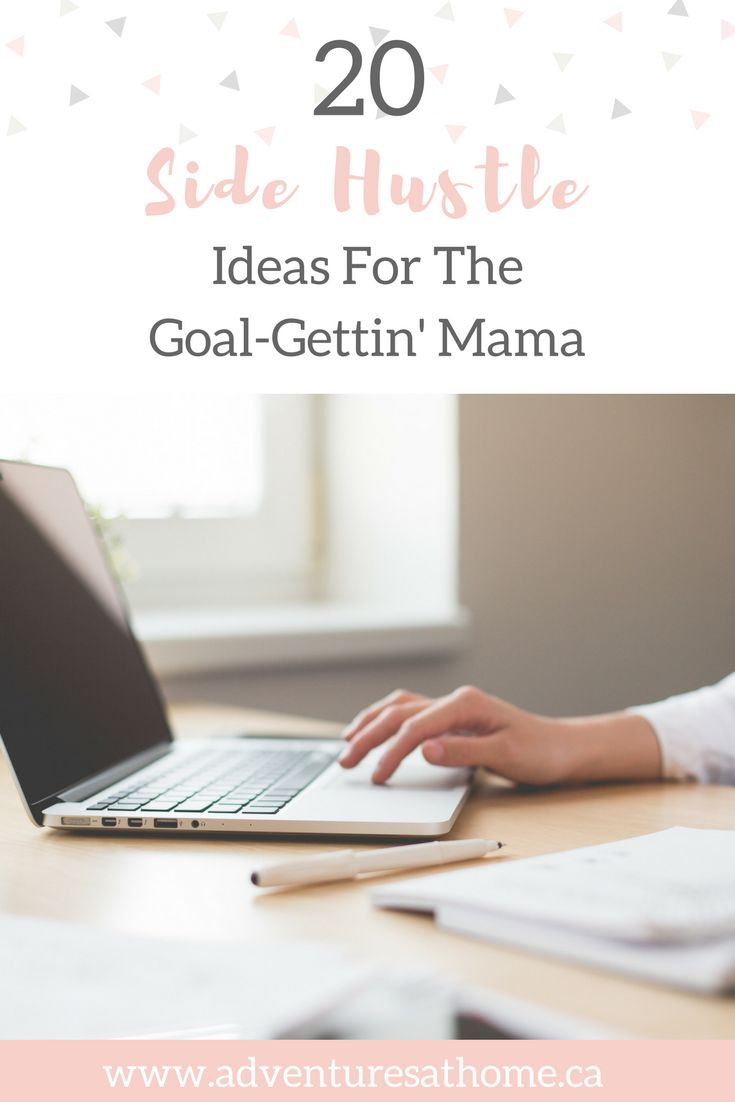 20 Side Hustle Ideas #sidehustle #mamablog