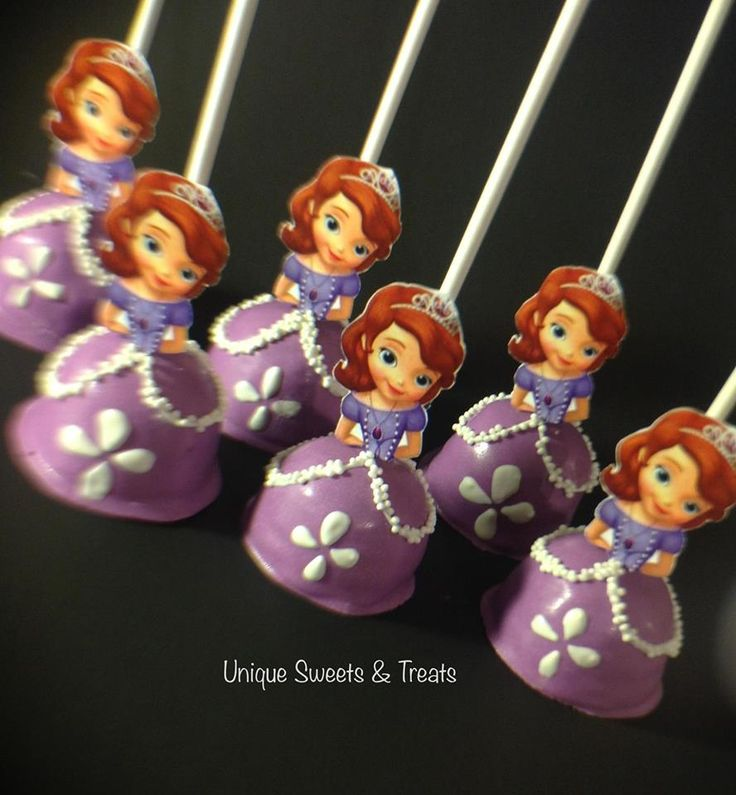 Unique Sweets & Treats - Sophia the First cake pops
