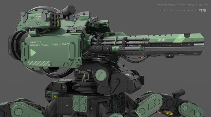 Destruction Unit ! , Amin Akhshi on ArtStation at https://www.artstation.com/artwork/destruction-unit-close-up