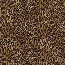 tessuto marrone macchie di leopardo marroni nere Timeless Treasures