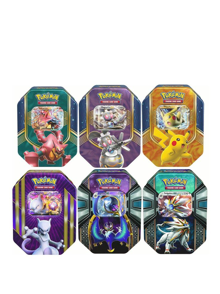 ThisPokemon Tin is packed with Pokemonadventure!Trainers everywhere will love this Pokemontin that's filled with action from the show!It features 4 TCGboosters, a holographic card and rare card to boost your collection. Gotta catche'em all!Styles may vary. Depth: 75 MMHeight: 151 MMWidth: 117 MMAge Range: Child (5-8 years)Character: No CharacterWarning Message: Warning: Not suitable for children under 3 yearsContains 4 Pokemon TCG boostersGuaranteed at least 1 holographic card i...