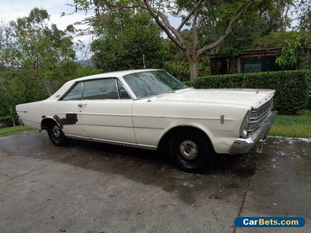 "1966 FORD GALAXIE 2 DOOR FASTBACK 289 C4 AUTO 9"" PROJECT RUNS & DRIVES CA CAR  #ford #galaxie500 #forsale #australia"