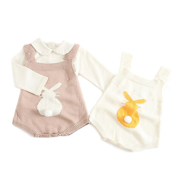 Cute Bunny Baby Jumpsuit for Girls Boys Overalls Autumn Spring Infant Romper Baby Clothes 1 PC #Affiliate