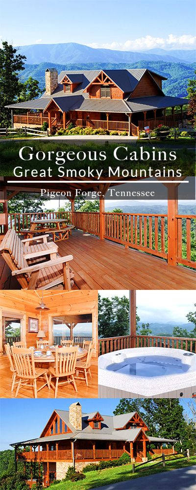 Make your trip to the Smoky Mountains memorable with breathtaking views and luxurious amenities in your Pigeon Forge cabin. | Featured Cabin: The Deck House #greatsmokymountains #cabinsforYOU #Gatlinburg #PigeonForge #tennessee