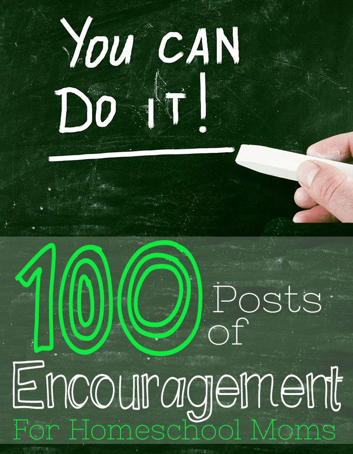 100 Posts of Encouragement for Homeschool Moms. Feeling down? Having a bad day? Thinking you are not enough? There is a post here for you. Save this page for the days you need it.