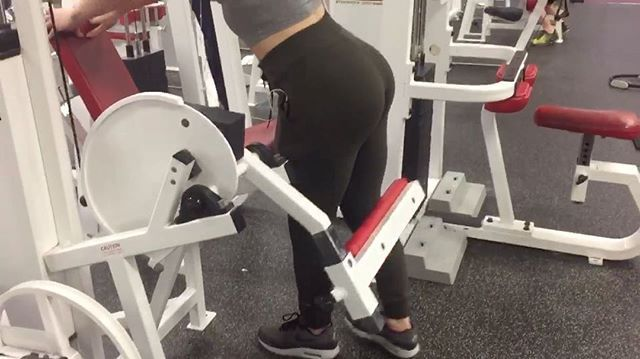 Glute Kickbacks on Leg Extension Machine