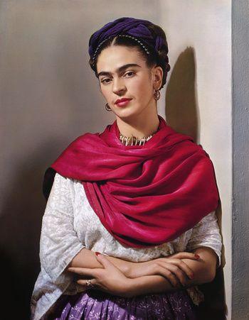 "1940 - Frida Kahlo with Magenta Rebozo ""Classic"""