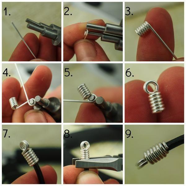 Ich werde oft gefragt, wie man eine Lederschnur am besten verarbeitet oder wie man das macht. W …   – Jewelry