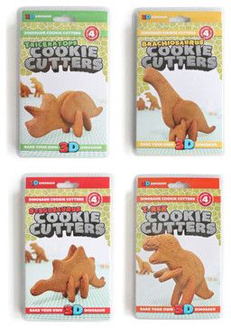 Dinosaur 3D Cookie Cutters - eclectic - Cookie Cutters - Convenient Gadgets & Gifts