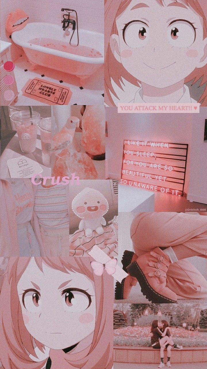 Ochako Uraraka Pink Wallpaper Anime Cute Anime Wallpaper Anime Wallpaper Iphone