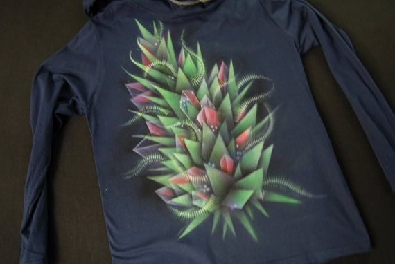 bud_4  abstract geometry hand-painted  t-shirt by NikoxiL on Etsy
