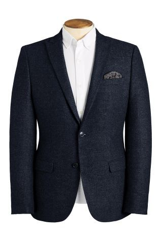 Navy Textured Jacket  €120