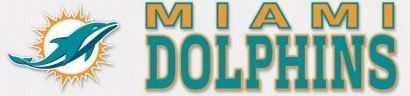"""NFL Miami Dolphins 4"""" x 17"""" Perfect Cut Decal"""
