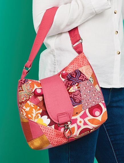 Use a relaxed form of foundation paper piecing and go crazy for this bold little handbag. Please be aware this download is for the pattern templates only. Buy a copy of Love Sewing issue 43 to find…