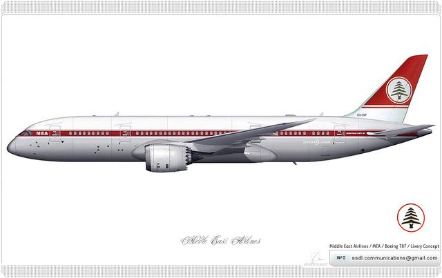 Middle East Airlines / MEA / Boeing 787 / Livery Concept