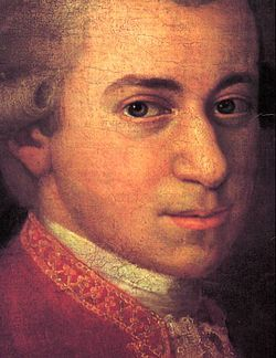 Wolfgang Amadeus Mozart (German: [ˈvɔlfɡaŋ amaˈdeus ˈmoːtsaʁt], English see fn.;[1] 27 January 1756 – 5 December 1791), baptised as Johannes Chrysostomus Wolfgangus Theophilus Mozart,[2] was a prolific and influential composer of the Classical era.