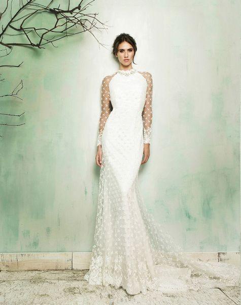 20 vestidos de novia con plumeti 2017 a los que no te podrás resistir. ¡Toma nota! Image: 18
