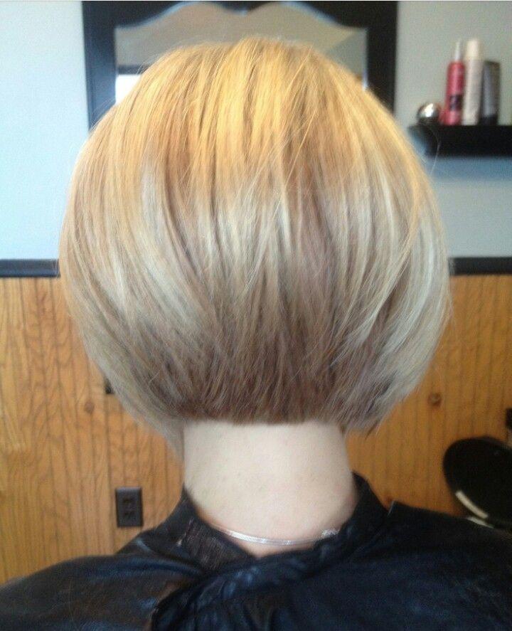 Short hair ; stacked bob #haircut