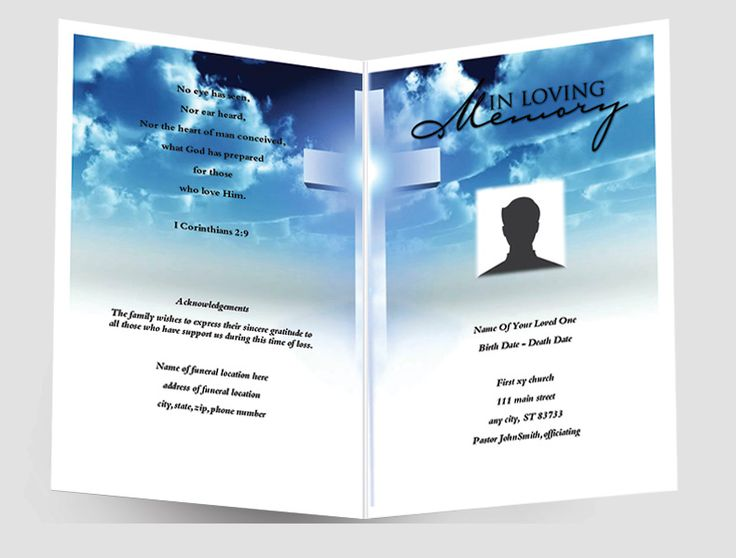 25+ parasta ideaa Pinterestissä Funeral program template free - free funeral template
