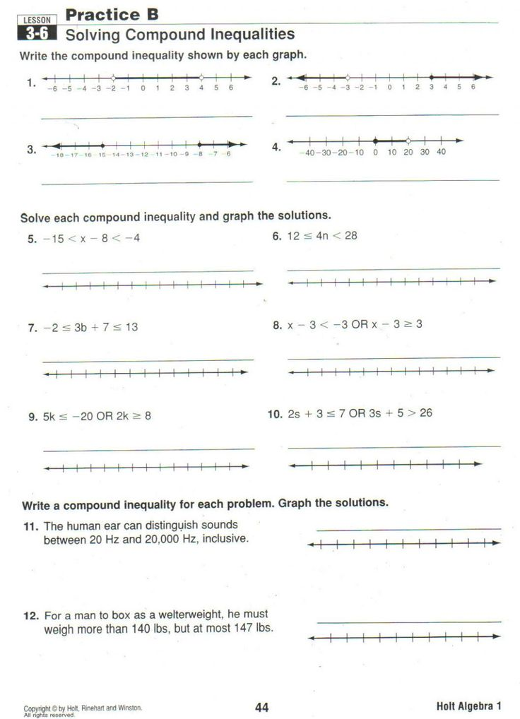 Compound inequalities worksheet   You Calendars https ...