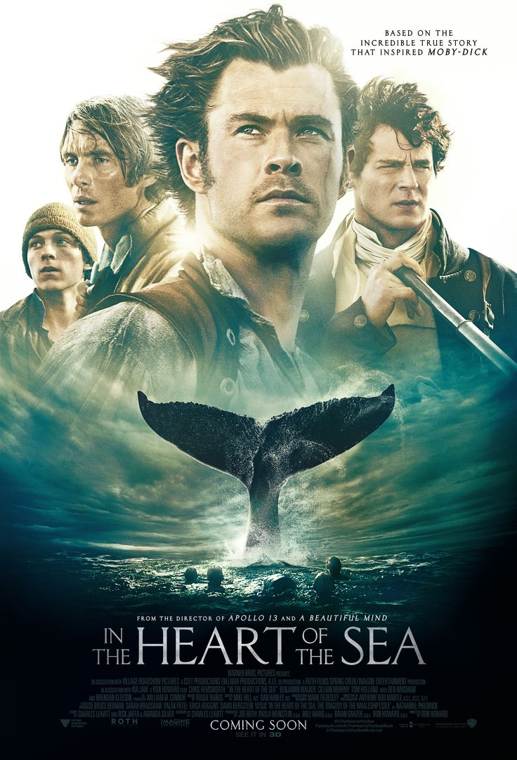 'In the Heart of the Sea' - Based on the incredible true story that inspired Moby-Dick. - Thursday 31st December. Cast: Chris Hemsworth, Benjamin Walker, Cillian Murphy, Tom Holland, Ben Whishaw, Brendan Gleeson. In the winter of 1820, the New England whaling ship Essex was assaulted by so…