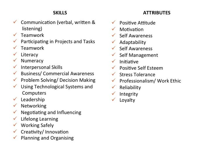 the difference between skills and attributes