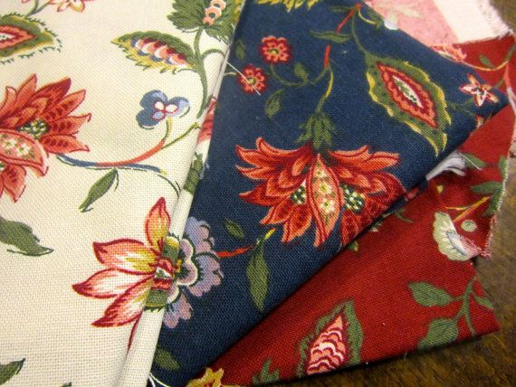 Attrayant Colonial Home Decor Coordinating Fabric Scraps   Red White Blue.