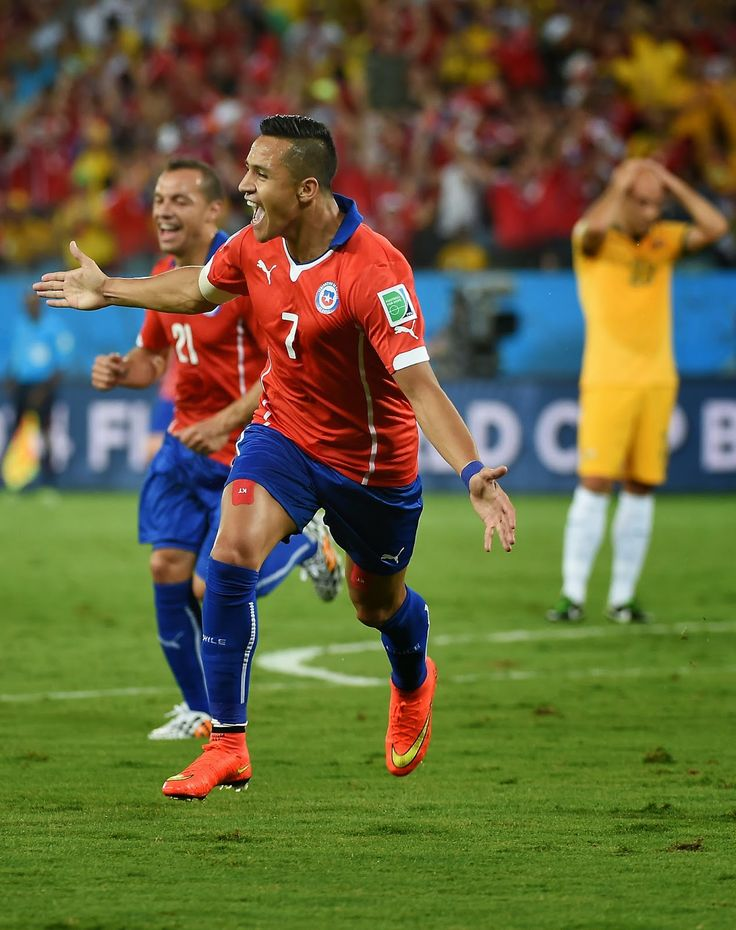 FIFA World Cup 2014: Chile vs Australia Fourth Match in Pictures